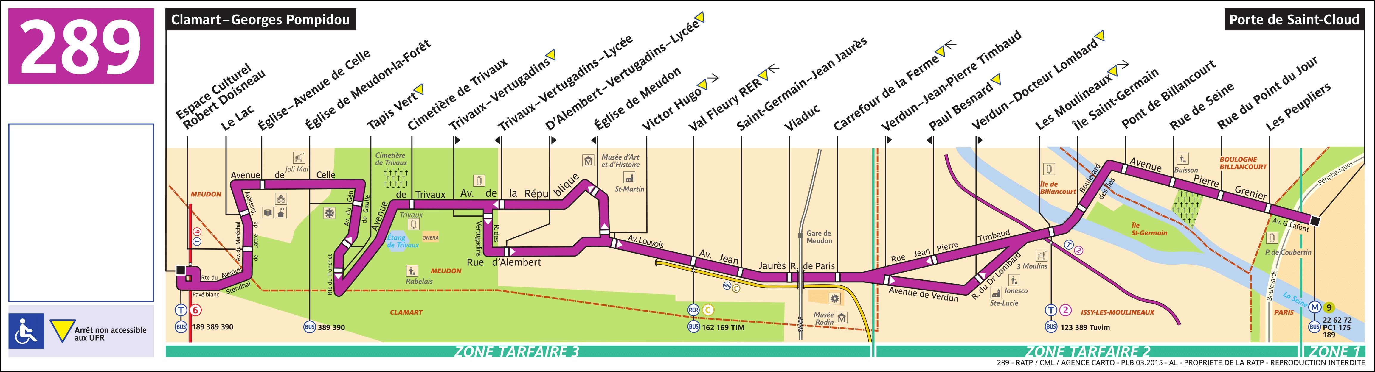 Bus Ratp : ligne 289 - horaires, plan et itinéraire