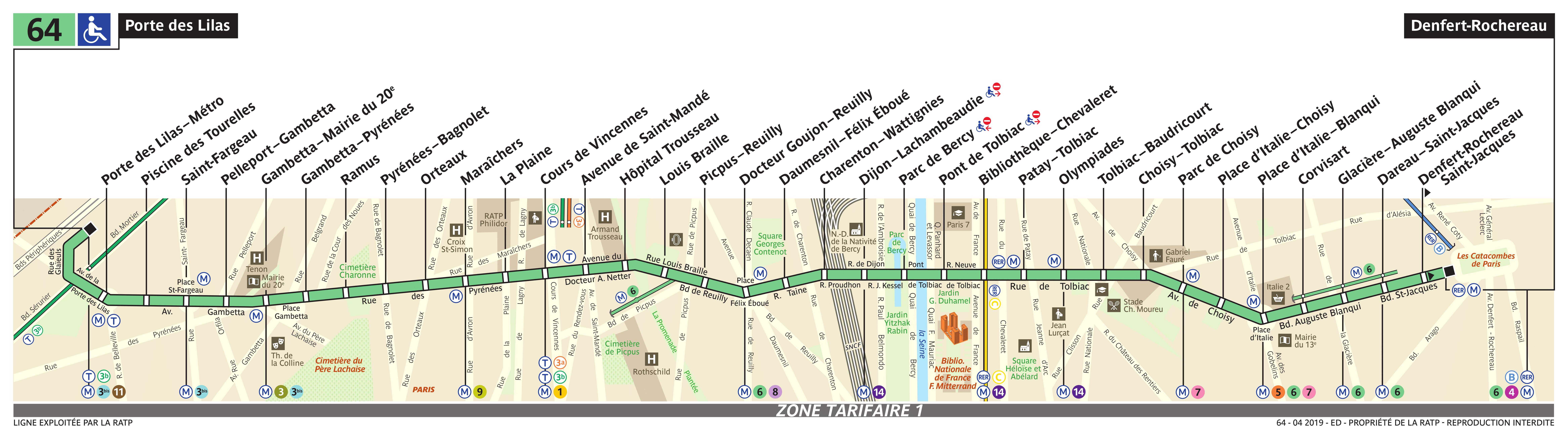 Bus Ratp Ligne 64 Horaires Plan Et Itineraire